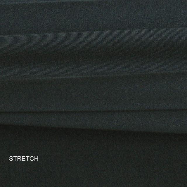 0335 Schwere Stretch Doppel Georgette Seide Stoffe in Tief Dunkel Marine