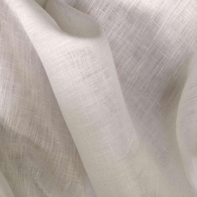 0985 100% feinstes LEINEN in  weiß