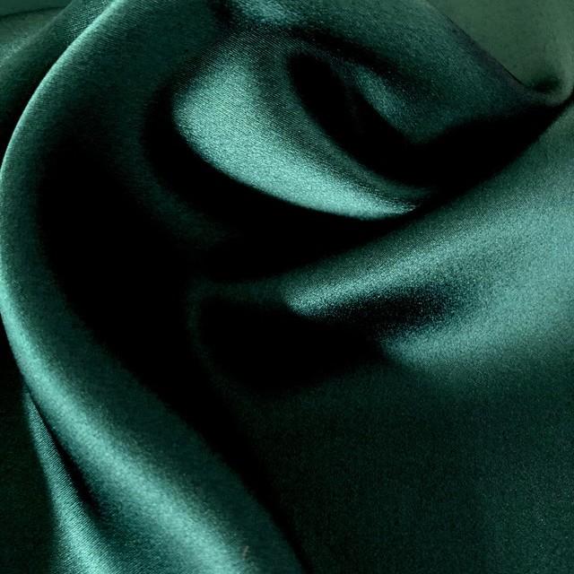 100 % Seide Tannengrün super leicht und weich fliessend | Ansicht: 100 % Seide Tannengrün super leicht und weich fliessend
