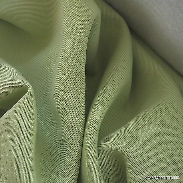 100 % TENCEL® schwerer 3/1 Soft Gabardine in Gelb-Grün