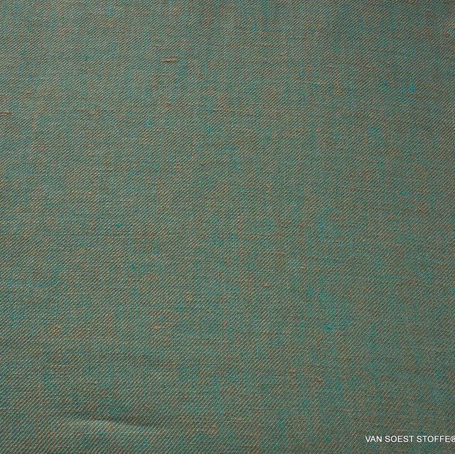 100% linen, twill 2Tone effect can be used on both sides Beige/Mintgrün | View: 100% linen, twill 2Tone effect can be used on both sides Beige/Mintgrün