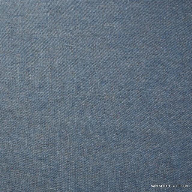 100% Leinen, Köper 2Ton Effekt beidseitig verwendbar Blau/Grau | Ansicht: 100% Leinen, Köper 2Ton Effekt beidseitig verwendbar Blau/Grau
