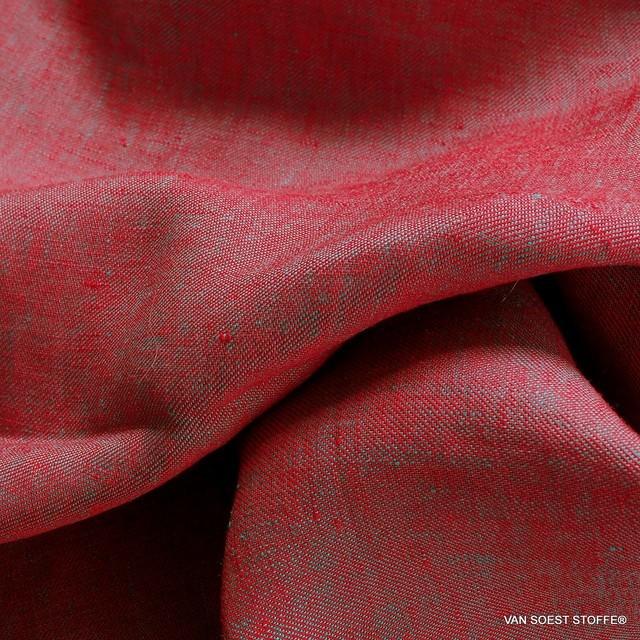 100% Leinen, Köper 2Ton Effekt beidseitig verwendbar Rot/Mintgrün | Ansicht: 100% Leinen, Köper 2Ton Effekt beidseitig verwendbar Rot/Mintgrün