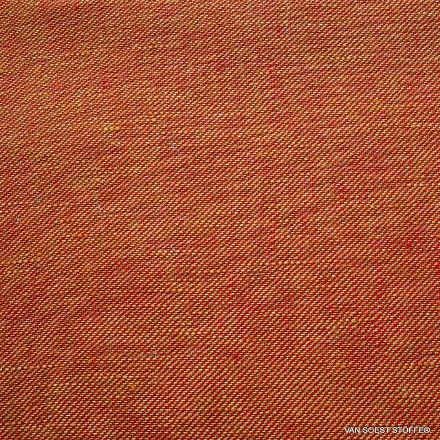 100% Leinen, Köper 2Tone Effekt beidseitig verwendbar Orange/Rot | Ansicht: 100% Leinen, Köper 2Tone Effekt beidseitig verwendbar Orange/Rot