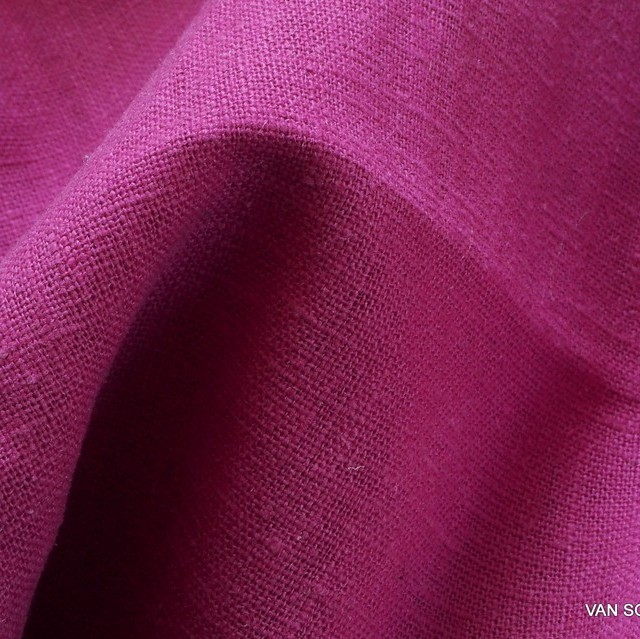 100% linen in pink