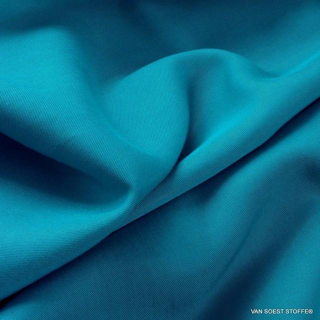 100% Lyocell - Tencel Feintwill in Türkis Blau