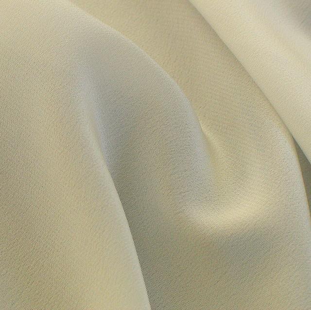 100% Seide Stoffe 18 mm. Crepe de Chine in Creme