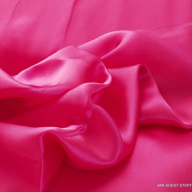 100% Seide leicht-Satin in Pink | Ansicht: 100% Seide leicht-Satin in Pink
