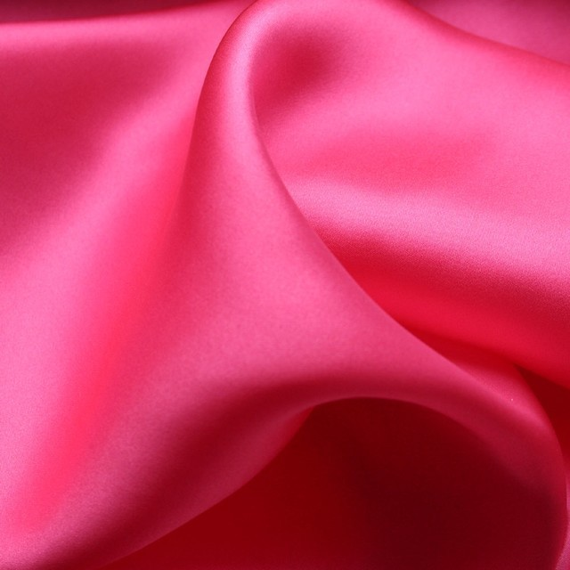 100% silk light satin in pink