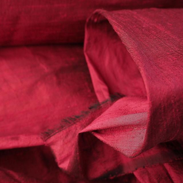 100% Seidendupion 175 Mittel Rot | Ansicht: 100% Seidendupion im mittlerem-Rot +  50 Farben