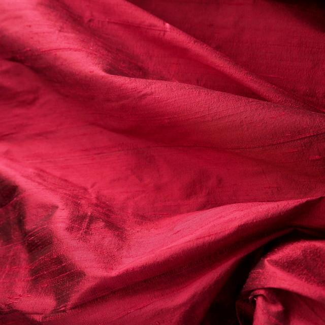 100% Seidendupion 175 Mittel Rot