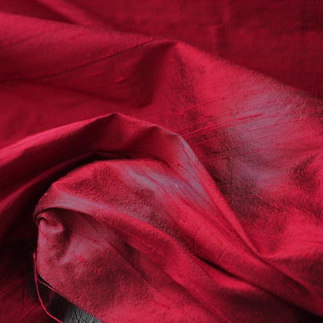 100% Seidendupion 175 Mittel Rot | Ansicht: 100% Seidendupion im neuem-Rot +  50 Farben