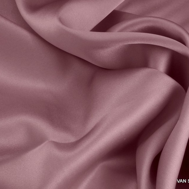 100% Stretch Satin Stoff - Stretch Seiden Satin in zart Rosa