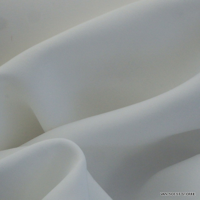100% TENCEL® 2/1 Feingabardine in Weiß - Meterware