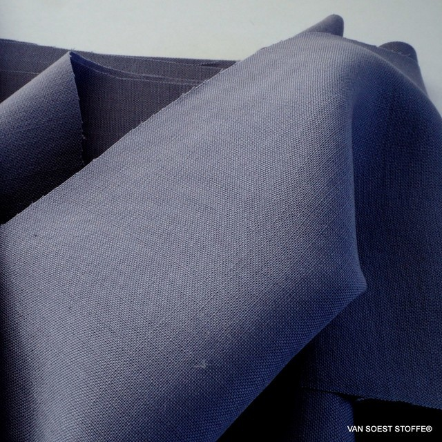 100% TENCEL™ Oxford feiner Leinen Optik in Indigo Ink