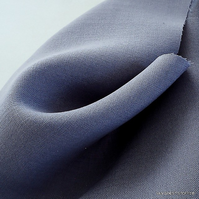 100% TENCEL® Oxford feiner Leinen Optik in Indigo Ink | Ansicht: 100% TENCEL® Oxford feiner Leinen Optik in Indigo Ink