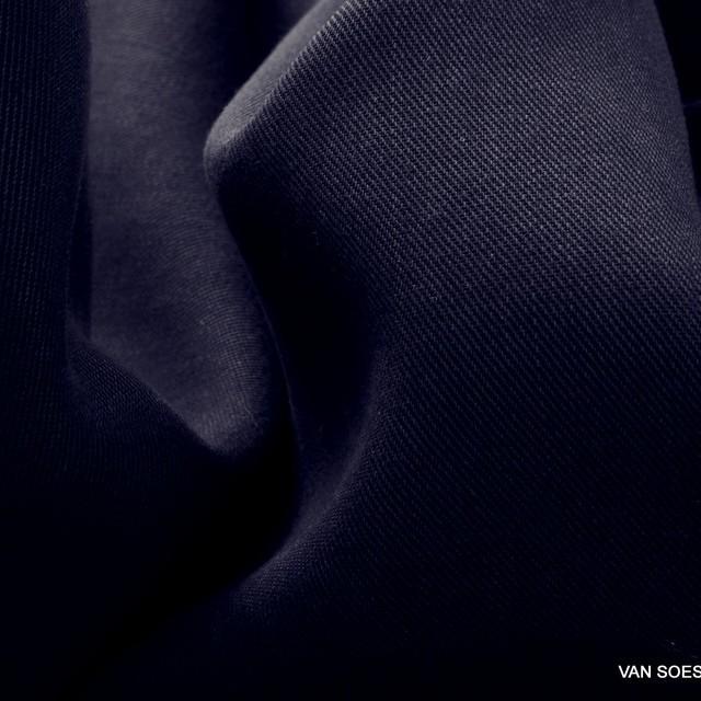 100% Tencel™ Feinköper in Farbe Dunkel Navy | Ansicht: 100% Tencel™ Feinköper in Farbe Dunkel Navy
