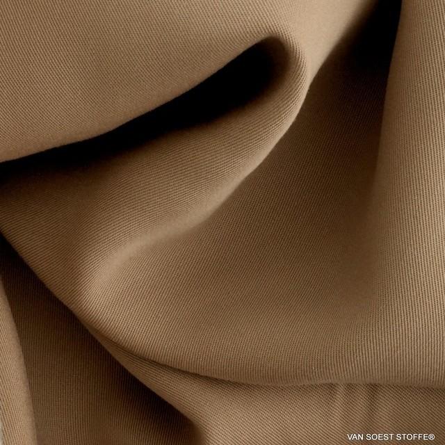 100% Tencel™ Feinköper in Farbe Nougat