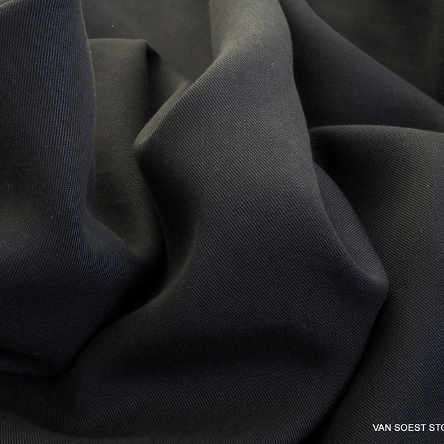 100% Tencel™ Feinköper+ in Farbe Schwarz | Ansicht: 100% Tencel™ Feinköper+ in Farbe Schwarz