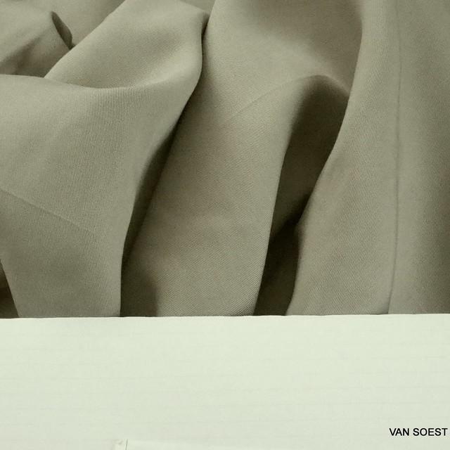 100% Tencel™ Feinköper in Farbe Stein | Ansicht: 100% Tencel™ Feinköper in Farbe Stein