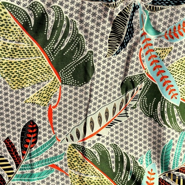 100% viscose muslin fancy 10 coloured leaf print design | View: 100% viscose muslin fancy 10 coloured leaf print design