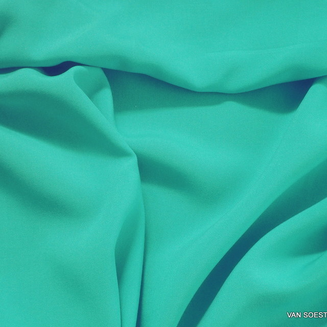 100% viscose soft woven fabric in aqua green