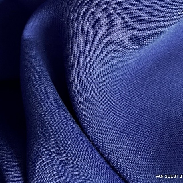 100% Viskose weiches soft Gewebe in Royal Blue