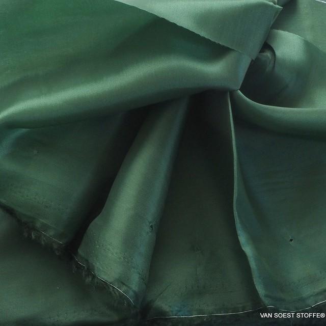 100% original Bemberg Cupro pongee light lining in dark green | View: 100% original Bemberg Cupro pongee light lining in dark green
