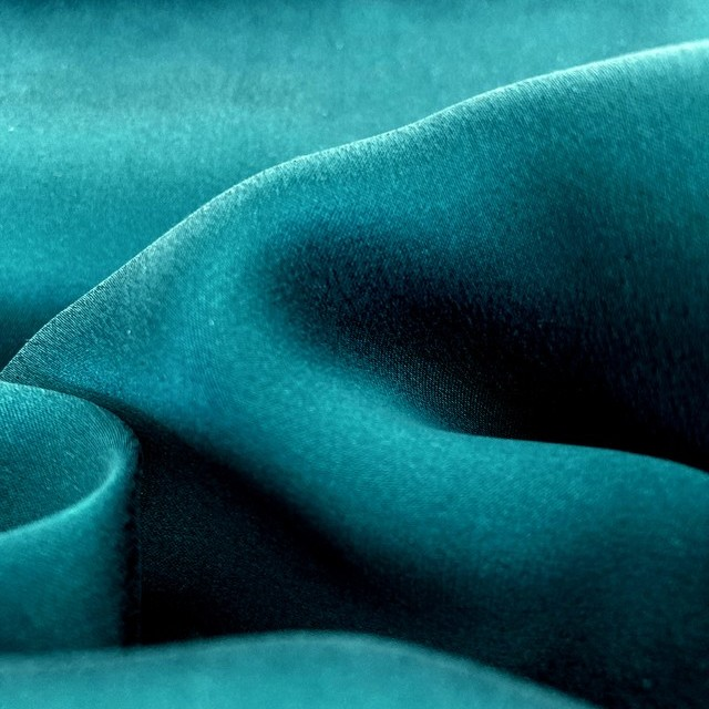 100% pure matte shiny silk in turquoise color