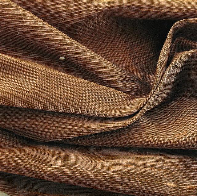 100% Seiden Dupion Farbe 169 Bronze