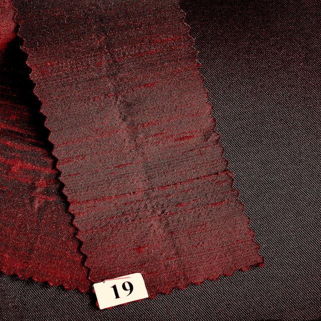 100% Seidendupion 19 Tief Dunkel-Burgund + 50 Farben
