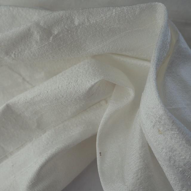 100% Seidendupion in Woll-Weiß