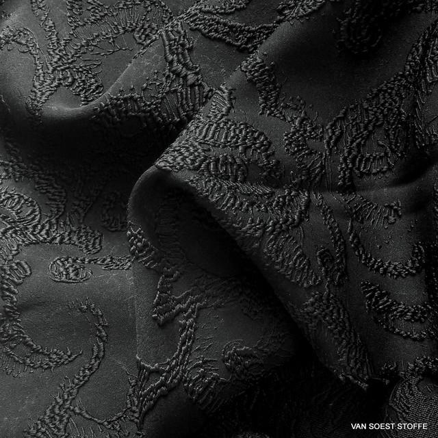 3D-Haute Couture Doppel Jacquard in tief Schwarz | Ansicht: 3D-Haute Couture Doppel Jacquard in tief Schwarz