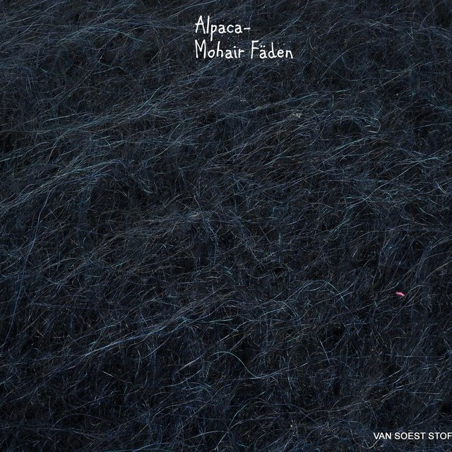 Alpaca-Mohair Wollflausch in dunkel Marine | Ansicht: Alpaca-Mohair Wollflausch in dunkel Marine