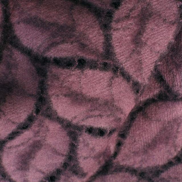 BLATT-SPITZE STOFF in dunkelviolett
