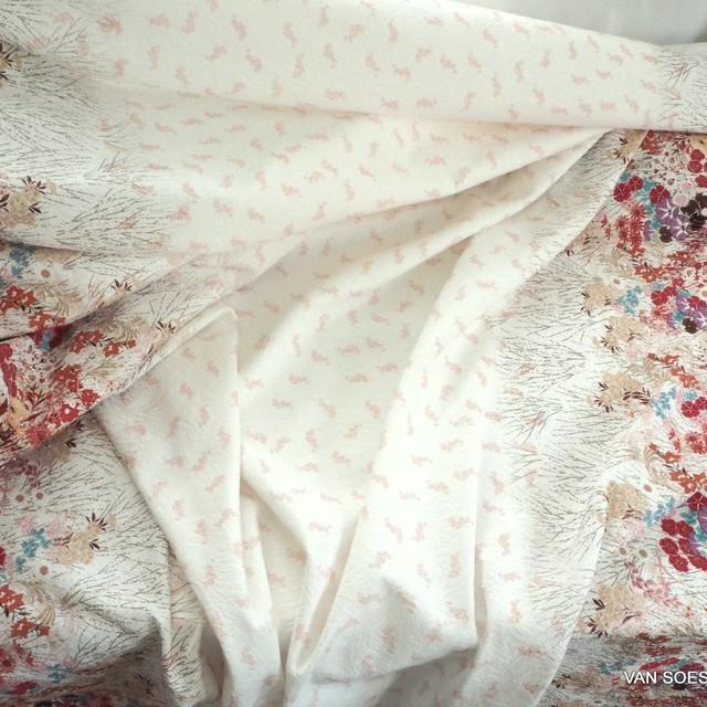 Blumenbordüre auf Jaquard gewebtem Stoff | Ansicht: lumenbordüre auf Jaquard gewebtem Stoff