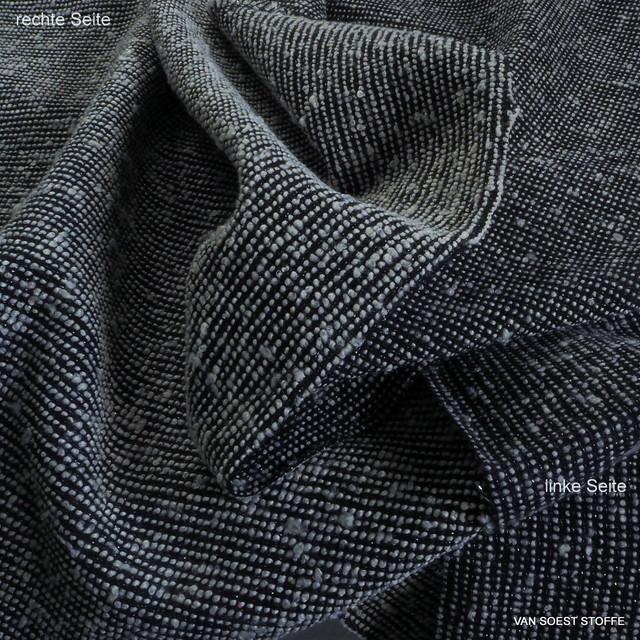 Bouclé Tweed in Schwarz - Weiß mit Lurex | Ansicht: Bouclé Tweed in Schwarz - Weiß mit Lurex