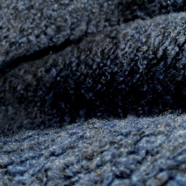 Bouclé mit Wolle Blau/Schwarz Melange | Ansicht: Bouclé mit Wolle Blau/Schwarz Melange