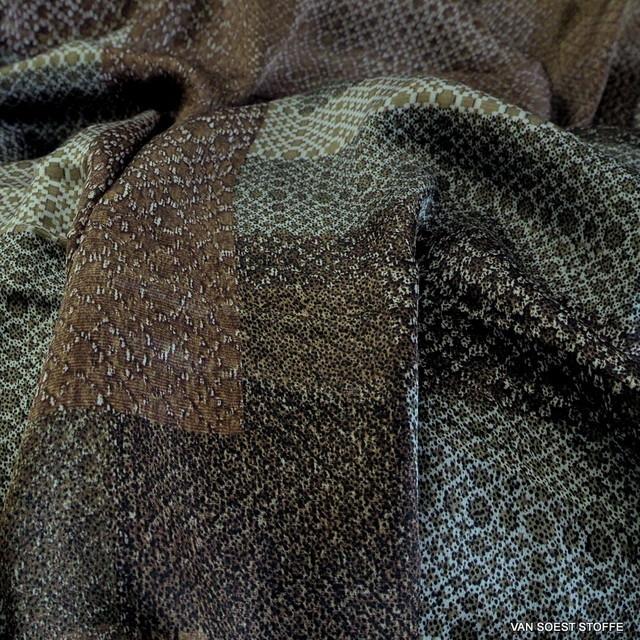 Bronze Geometrie auf 100% Viskose Twill