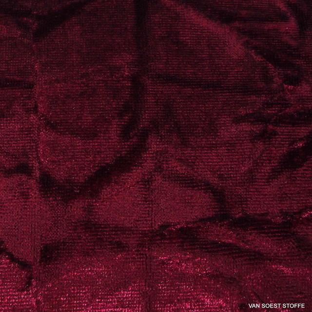Burda Style Stretch Embossed Velvet in Burgundy