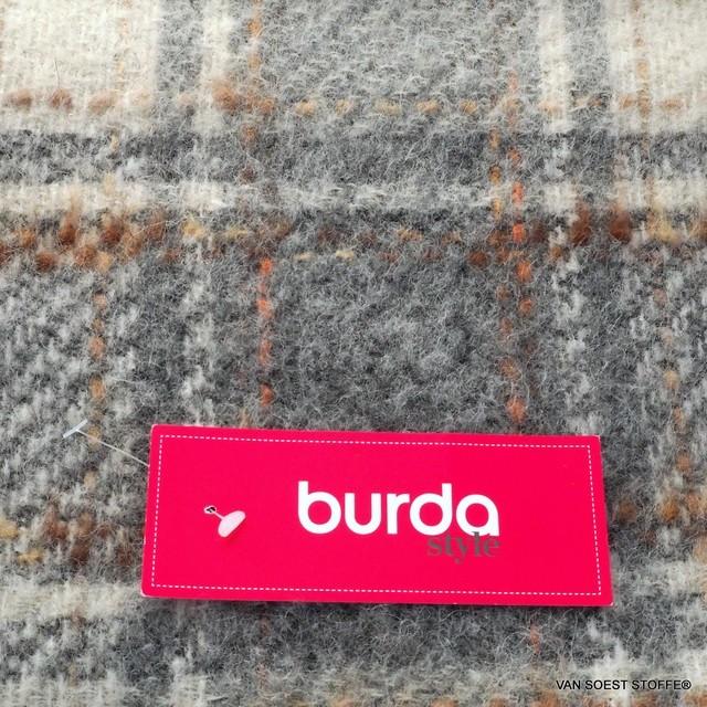 Burda style -Franconia Strappato- Mohair-Wolle Web Karo