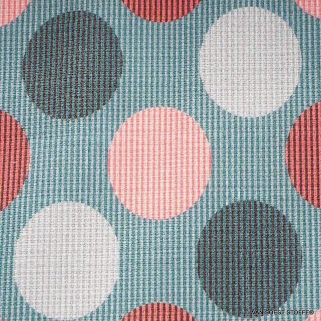 Burda style Baumwoll Stretch Pastell Jacquard in XL Punkte Muster | Ansicht: Burda style Baumwoll Stretch Pastell Jacquard in XL Punkte Muster