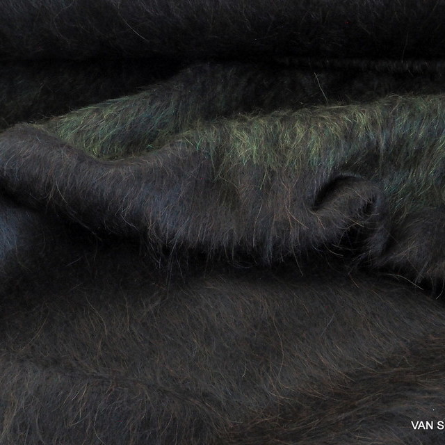 Burda style Degradé Woll Mohair Loden Stoff in Braun-Olive | Ansicht: Burda style Degradé Woll Mohair Loden Stoff in Braun-Olive