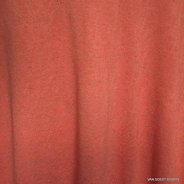 Burda style Stretch Jacquard Jersey in Lachs-Orange | Ansicht: Burda style Orange - Lachs farbiger Jersey Stretch Jacquard