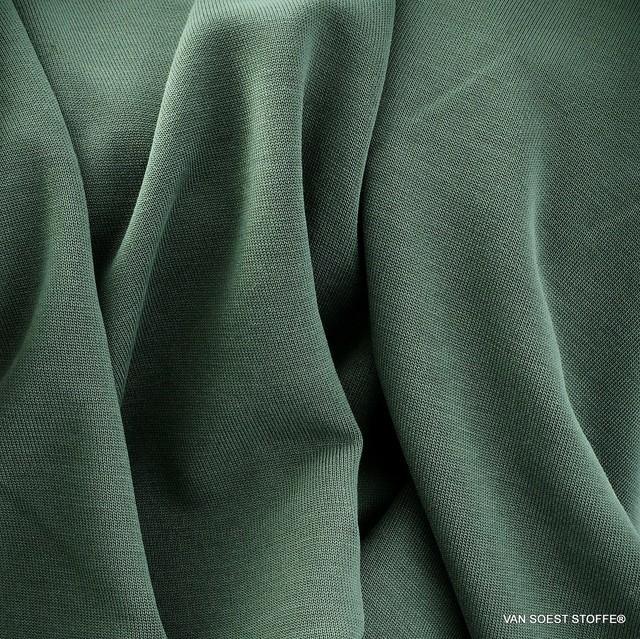 Burda style Modal® Stretch Jersey in Mittel Grau-Grün.