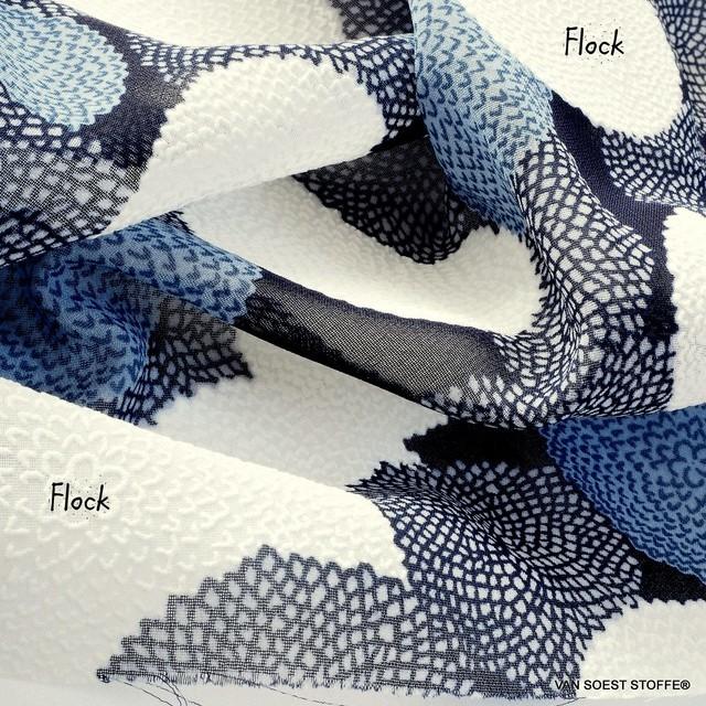 Burda style Olivette Crepe-Chiffon mit Flock Effekt in Kreisen...   Ansicht: Burda style Olivette Crepe-Chiffon mit Flock Effekt in Kreisen...
