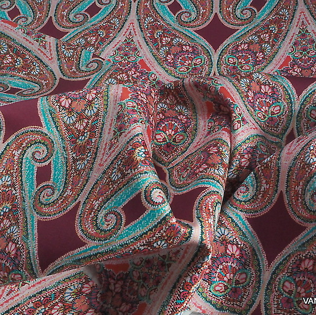 Burda style Paisley auf Stretch Baumwolle | Ansicht: Burda style Paisley auf Stretch Baumwolle