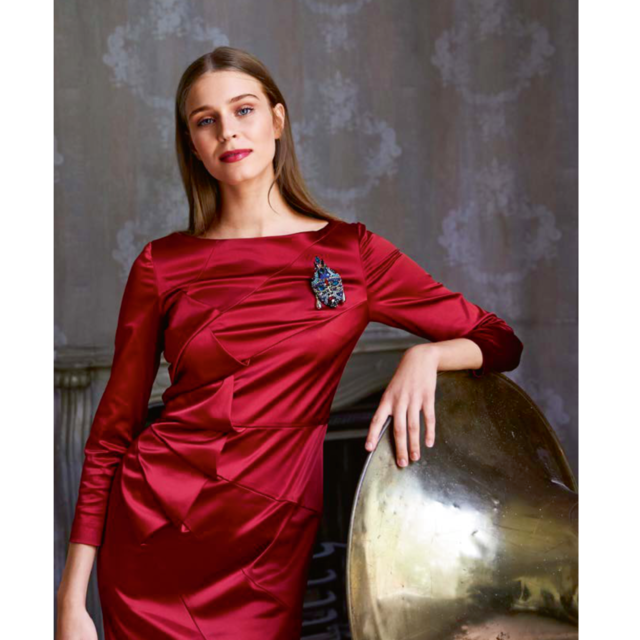Burda style Stretch Azetat Satin in Bordeaux
