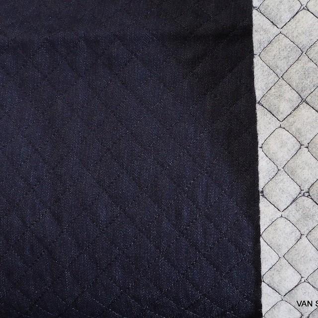 Burda style Stretch Baumwoll Steppware in Jeans Optik | Ansicht: Burda style Stretch Baumwoll Steppware in Jeans Optik