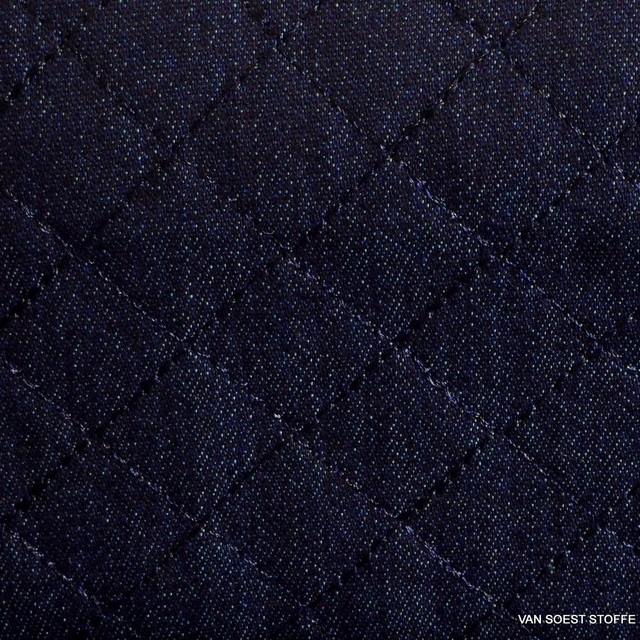 Burda style Stretch Baumwoll Steppware in Jeans Optik | Ansicht: 1447 - Burda style Stretch Steppware in Jeans Optik